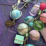 Abra Couture Pastel Necklace - Lady Slippers