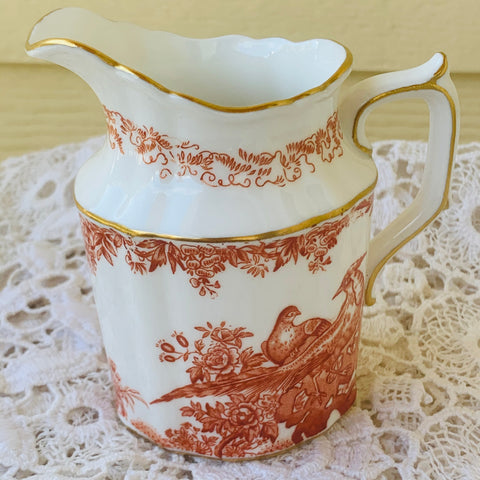 Royal Crown Derby Red Alves English Bone China Creamer