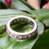 Sterling Silver CZ Ring Band - Lady Slippers