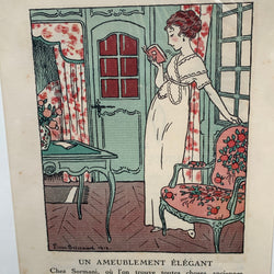 Antique La Gazette du Bon Ton Fashion Print Paris