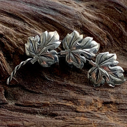 Vintage Raimond Sterling Silver Floating Leaves Pin