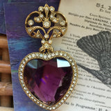 Vintage Regal Purple Rhinestone Pin - Lady Slippers