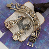 Vintage Rhinestone Bracelet & Earring Set - Lady Slippers