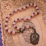 Antique Italian Soft Pink Glass St. Teresa Bead Chaplet - Lady Slippers