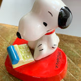 Vintage Japan Peanuts Snoopy & Typewriter Paperweight  Charles M Schulz UFS - Lady Slippers