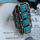 Vintage Faux Turquoise Southwestern RIng