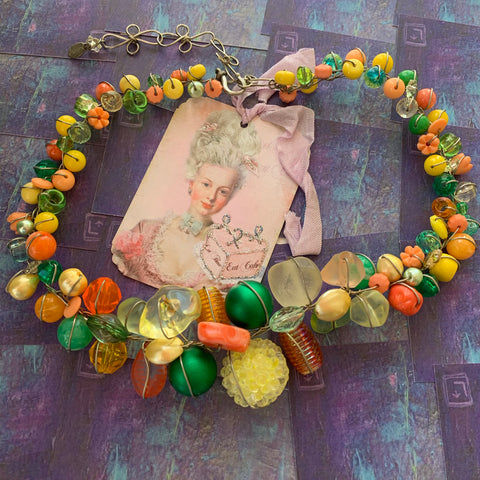 Abra Couture Handmade Necklace - Lady Slippers