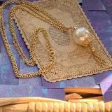 Vintage Faux Pearl Double Strand Necklace - Lady Slippers