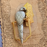 Vintage MacCaw Parrot on a Perch Brooch by J.J. - Lady Slippers