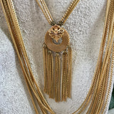 Vintage Unsigned Goldette Necklace - Lady Slippers