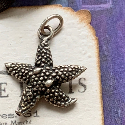 Vintage Sterling Silver Starfish Charm - Lady Slippers