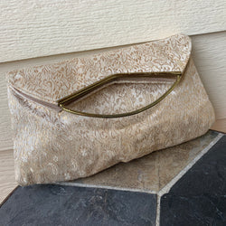 Vintage Brocade Envelope Clutch Purse