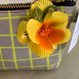 LS Charlie Change Purse and Vintage Floral Pin - Lady Slippers