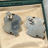 Mid Century Modern Sterling Silver Earrings