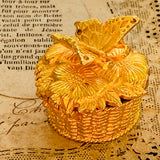 1968 Vivian Woodard Petite Papillon Solid Perfume Butterfly Basket Holder - Lady Slippers