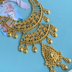 Vintage Unsigned Goldette Victorian Revival Necklace