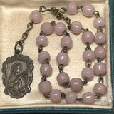 Antique Italian St. Teresa Soft Pink Glass Bead Chaplet