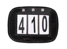 Patent Leather Number Holder with Crystals