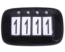 Four Digit Leather Number Holder with Crystals