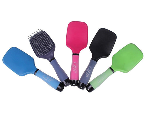 Mane and tail brush with soft gel handle