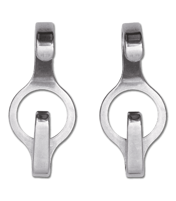 Waldhausen Stainless Steel Circle Curb Chain Hooks