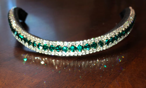 3 Row Crystal Browband