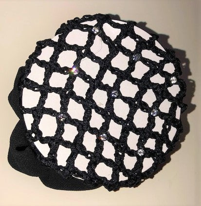 Hair Net Crystal Scrunchie w/clips