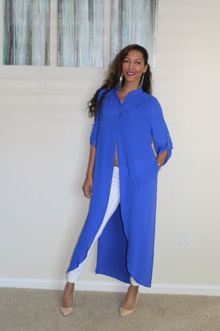 The Shelly Top ~ Royal Blue