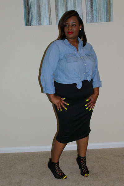 The Pencil Skirt ~ Curvy Chicks (Black)