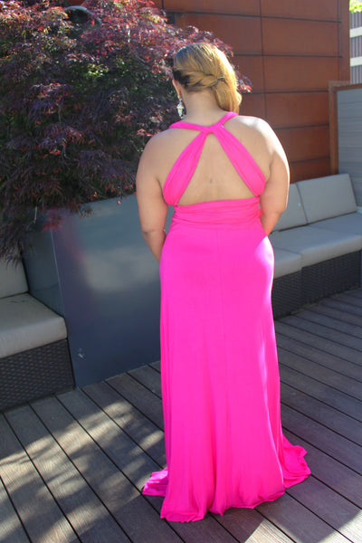 The Layla Convertible Maxi Dress ~ Fushia