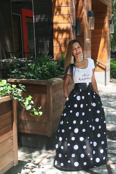The Polka Dot Maxi Skirt