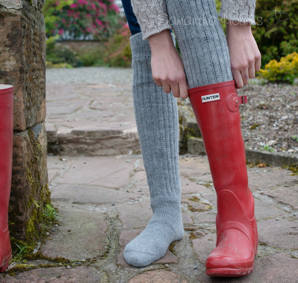 "Sock- The ""Wellington Wellie"" Knee Sock"