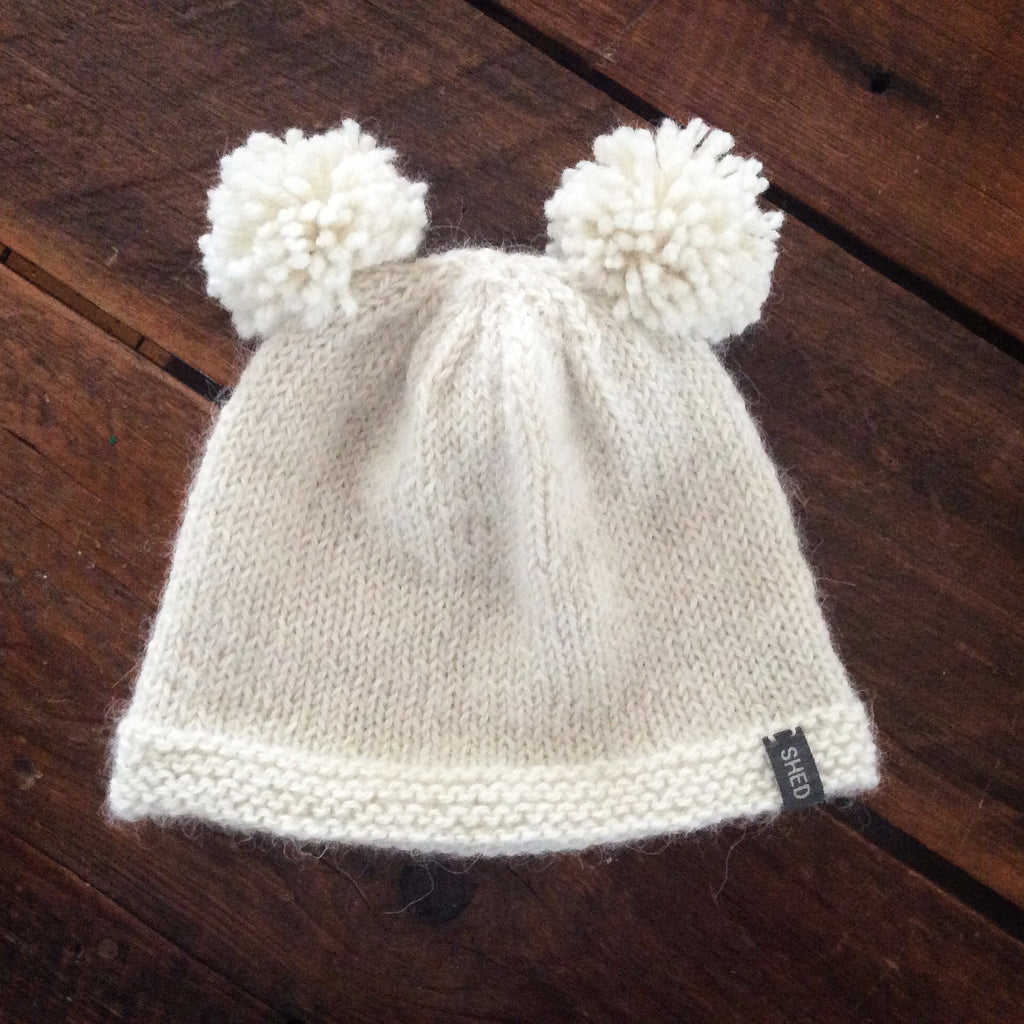 "Cap - Toddler & Children's double Pom-Pom ""Vaida"" - SHED Chetwyn Farms"