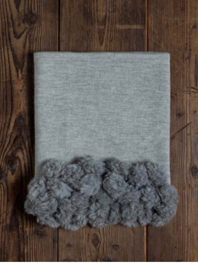 "Throw/Blanket - The ""Picton"" Pom Pom"