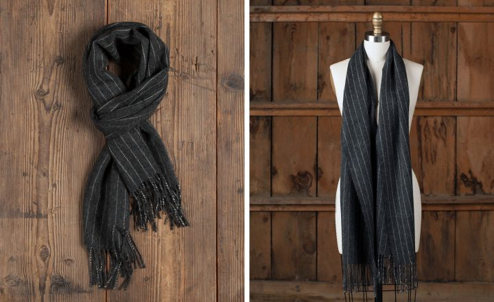"Scarf - ""The Prinyer's Cove"" Pinstripe Scarf"