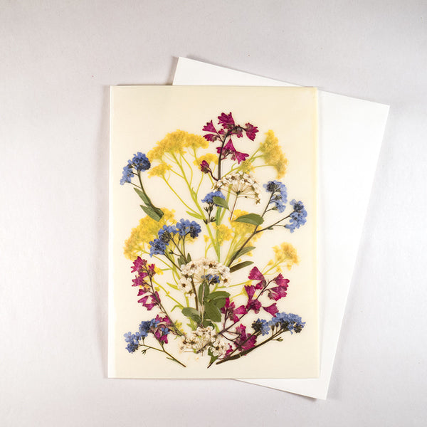 bouquet Beeswax Card