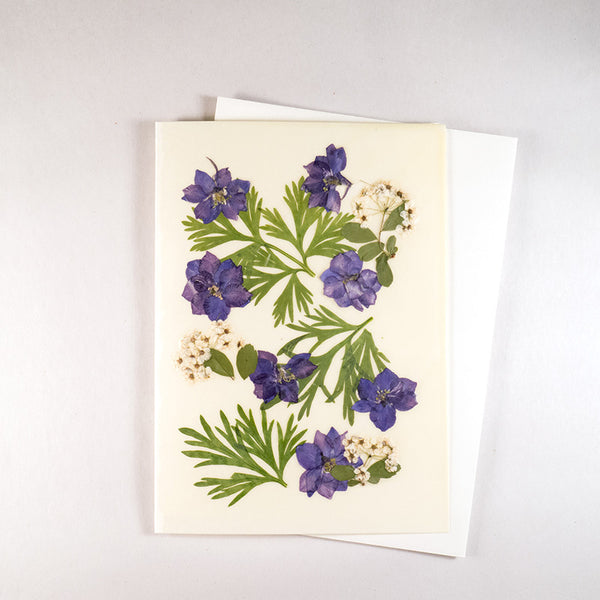 Larkspur Beeswax Card