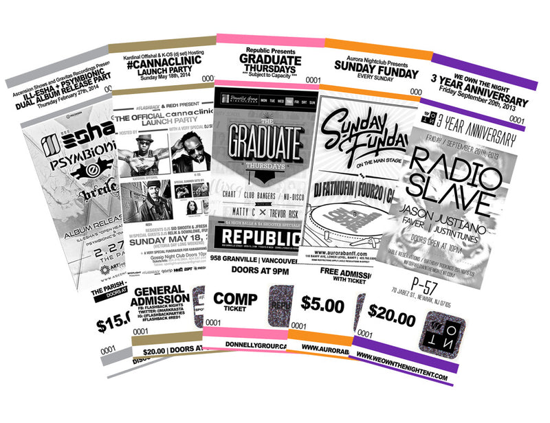 weatherproof laser sheets for event tickets and more