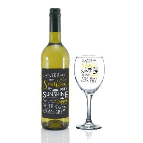 You Are My Sunshine Wine Gift Set