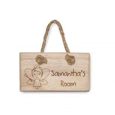 Wooden Kids Door Sign
