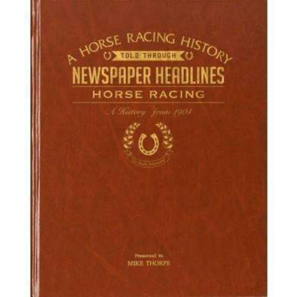 A4 Horse Racing Newspaper Book