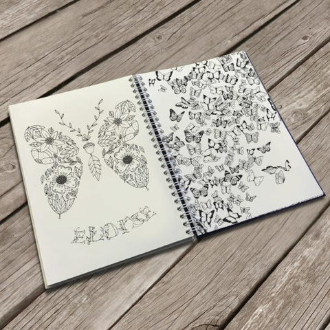 Personalised Travel Size Adult's Colouring Book