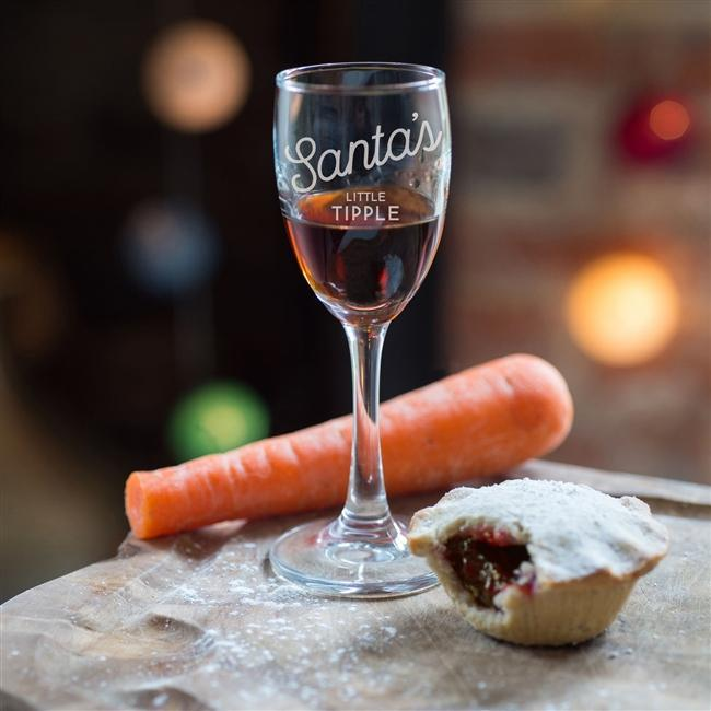 Santa's Little Tipple Glass