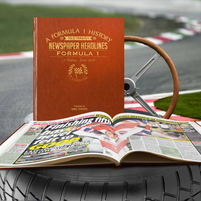 A4 Formula One Newspaper Book
