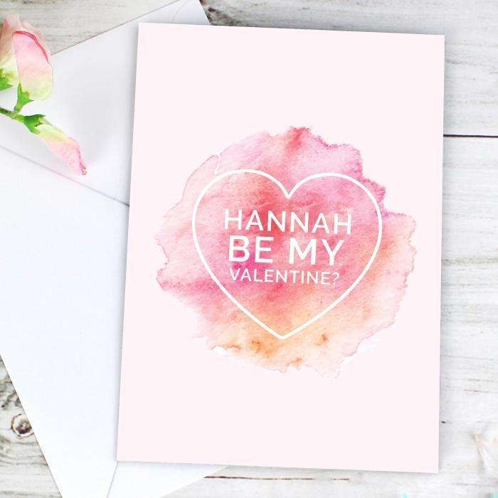 Personalised Be My Valentine Heart Card