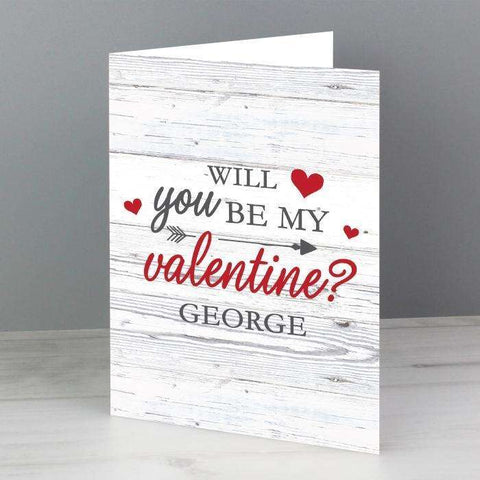 Personalised Be My Valentine Card