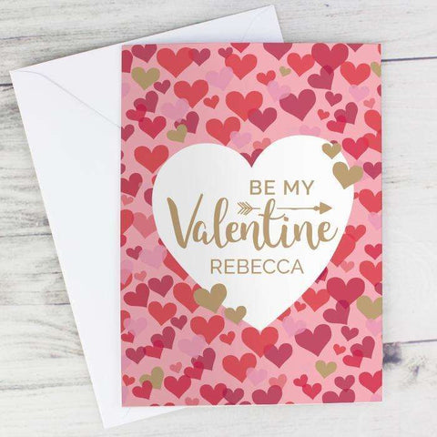 Personalised Valentine's Day Confetti Hearts Card