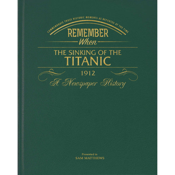 Titanic Newspaper Book