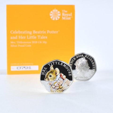 Mrs Tittlemouse Royal Mint Silver Proof Coin & Book Set