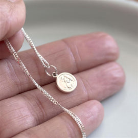 Sterling Tiny St Christopher Necklace